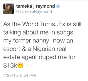 tameka raymonds tweet